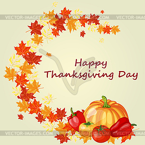 Thanksgiving day background - Vector-Clipart / Vektor-Bild