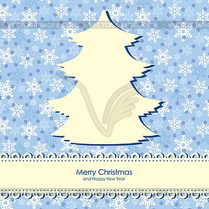 Weihnachten Glückwünsche Hintergrund - Vektor-Bild
