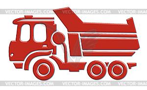 Schwere Auto-Symbol - Vector-Clipart / Vektor-Bild