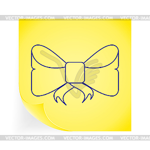 Bow icon - Vector-Clipart EPS