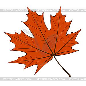 Красный кленовый лист - рисунок в ...: vector-images.com/clipart/clp872834/?lang=rus