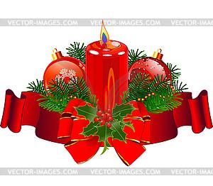 Weihnachtskerze Design - Vektor-Clipart EPS