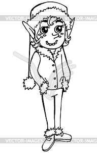 Elf. doodle - Vector-Abbildung