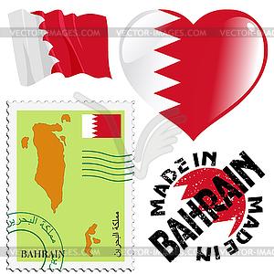 Nationalen Farben von Bahrain - Vektorgrafik