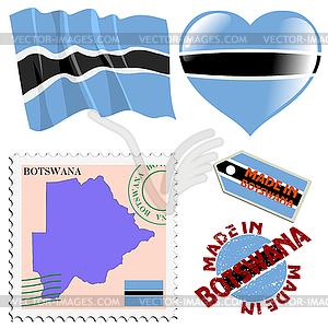 Nationalen Farben von Botswana - Vektorgrafik-Design