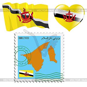 Nationalen Farben von Brunei - farbige Vektorgrafik