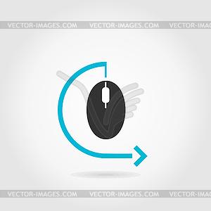 Computermaus - vektorisiertes Design