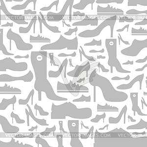 Footwear Hintergrund - Vektorgrafik-Design