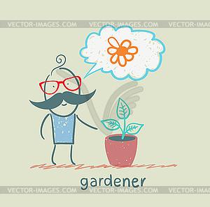 Gärtner - Vektor-Clipart EPS