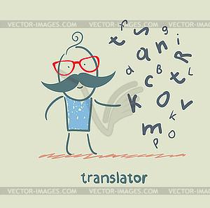 Übersetzer über Briefe denken - Vektorgrafik-Design