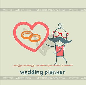 Hochzeitsplaner Ring zeigt - vektorisiertes Design