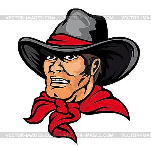 Amerikanischen Cowboy - Vector-Clipart EPS