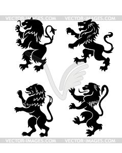 Heraldischen Löwen - Vector-Clipart / Vektor-Bild