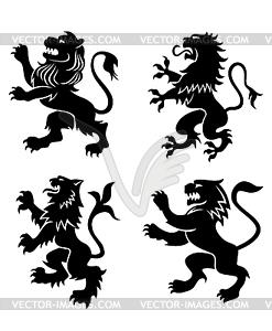 Königliche heraldischen Löwen - Vector-Illustration