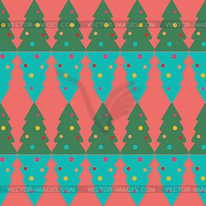 Nahtlose Muster der Weihnachtsbaum - Klipart