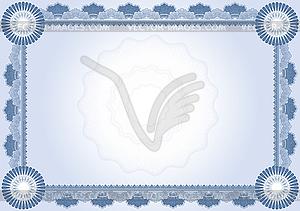 Шаблон сертификата диплома