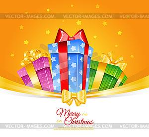 Weihnachtsgeschenke - Vektor Clip Art