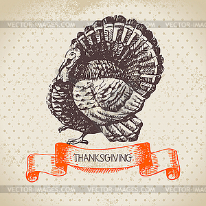 Vintage Thanksgiving Day Hintergrund - Vector-Clipart / Vektor-Bild