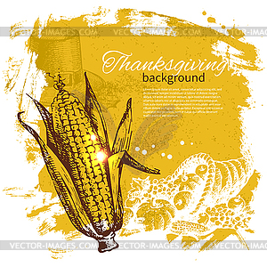 Vintage Thanksgiving Day Hintergrund - Vector-Clipart / Vektor-Bild