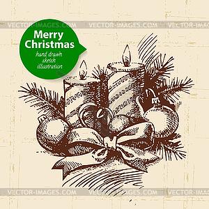Weihnachten Hintergrund mit - Vector-Illustration