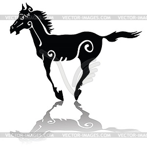 Running Horse - Royalty-Free Clipart