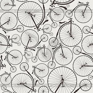 Vintage Fahrrad nahtlose - farbige Vektorgrafik