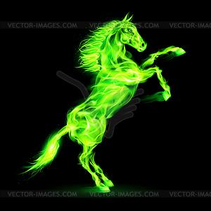 Feuer Pferd Aufbäumen - Clipart-Bild