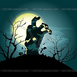 Zombie-Hand Hintergrund - vektorisiertes Clip-Art