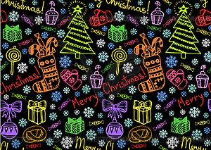 Weihnachten nahtlosen Hintergrund - Vektor-Clipart / Vektor-Bild
