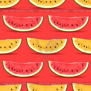 Watermelon nahtlose Muster - Vektorgrafik-Design