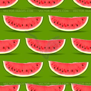 Watermelon nahtlose Muster - Vector-Clipart EPS