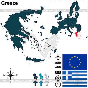 Karte von Griechenland mit der Europäischen Union - Vektor-Abbildung