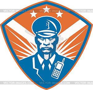 Policeman Security Guard Polizist Crest - vektorisierte Grafik