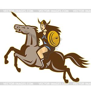 Valkyrie Amazon Krieger Horse Rider - Clipart-Design