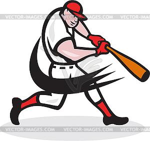 Baseballspieler Cartoon - Vektor-Skizze