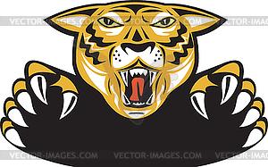 Tiger Head Head Offensives - vektorisiertes Design
