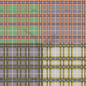 Vier nahtlose karierte Muster - Clipart-Bild