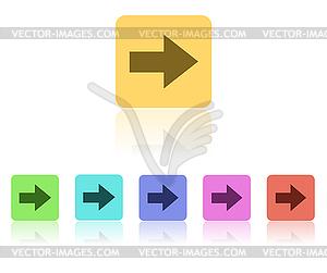 Modern Flat Icon Set - farbige Vektorgrafik