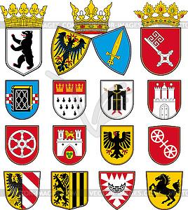 Wappen der Städte in Deutschland - Stock-Clipart
