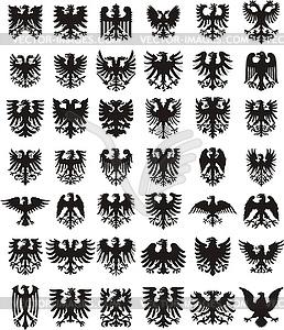 Wappenadler Silhouetten - Vektor-Clipart