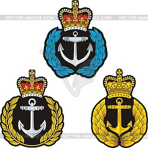 Navy Kappe badge.Set - Klipart