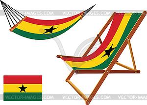 Ghana Hängematte und Liegestuhl-Set - vektorisiertes Design