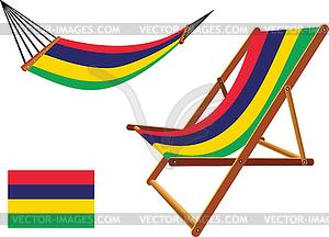 Mauritius Hängematte und Liegestuhl-Set - Vector-Clipart EPS