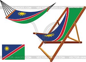 Namibia Hängematte und Liegestuhl-Set - Vector-Clipart EPS