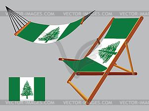 Norfolk-Insel Hängematte und Liegestuhl-Set - vektorisiertes Design