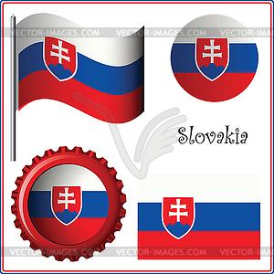 Slowakei Grafiksatz - Vector-Clipart / Vektor-Bild
