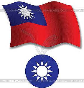 Taiwan strukturierten wellig Flagge - Vector-Bild