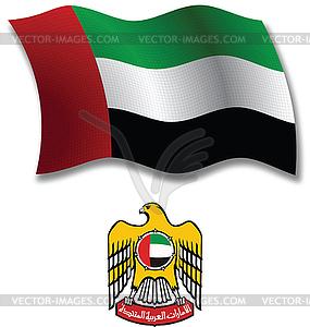 Vereinigte Arabische Emirate strukturierten wellig Flagge - Vektor-Illustration