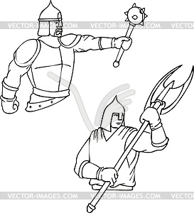 Russische Bogatyrs - Held Krieger - Vektor-Illustration