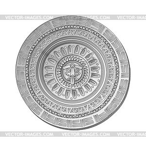 Mayan Sun stein symbol - Vektorabbildung